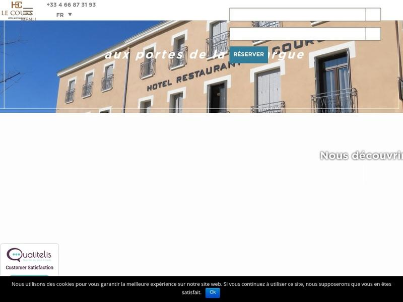 Screenshot von www.hotel-le-cours.com